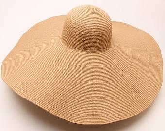 87a5e4c5 25cm Wind Brim Paper Handmade Sun Hat, Summer Holiday Beach Cap For Man And  Woman.