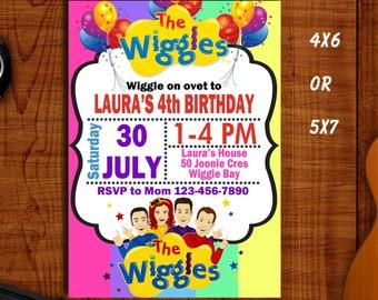 Wiggles Invitation Etsy