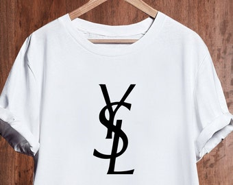 a8c70378 Yves Saint Laurent T Shirt, Saint Laurent Ysl Tshirt, Ysl Mens Womens Kids  Tshirt, Yves Saint Laurent Unisex Shirt, Saint Laurent Inspired