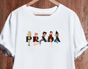 4b1edc1e6 Prada TShirt, Prada Spice Girls Shirt, Prada Mens Womens Kids T-shirt, Prada  Unisex Shirt, Prada Inspired, Designer Tshirt, Luxury