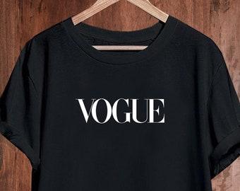 5d126ed0a Vogue Tshirt Shirt T-shirt T Shirt, Vogue Shirt, Vogue Mens Womens Kids,  Vogue Unisex Shirt, Vogue Inspired, Designer Inspired, Vogue