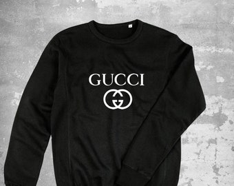 03d91d2e Gucci GG White Sweatshirt, Gucci Sweater, Gucci Unisex Kids Pullover, Gucci  Inspired, Gucci Crewneck, Luxury Sweater, Gucci Hoodie