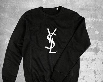4f63e909 Yves Saint Laurent Sweatshirt, Saint Laurent Ysl Sweater, Saint Laurent  Unisex Kids Pullover, Saint Laurent Inspired, Saint Laurent