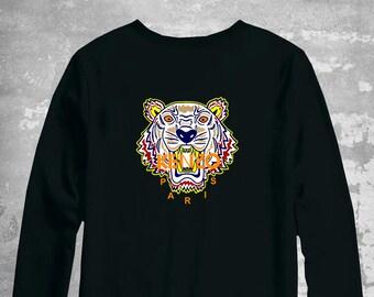 c74512107a6 Kenzo Sweatshirt, Kenzo Tiger Sweater, Kenzo Unisex Kids Pullover, Kenzo  Inspired, Kenzo Crewneck, Luxury Sweater, Kenzo Hoodie