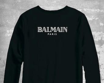 dc372f43 Balmain Sweater, Balmain Paris Pullover, Balmain Unisex Crwewneck, Balmain  Inspired, Balmain Sweatshirt, Luxury Sweater, Designer Inspired