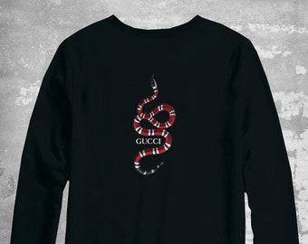 c43a6248f Gucci Snake Sweater, Gucci Pullover, Gucci Unisex Crwewneck, Gucci  Inspired, Gucci Sweatshirt, Luxury Sweater, Gucci Shirt, Paris