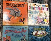 Vintage Lot of 12 Vinyl LP Records - Disney - Spiderman - Casper - Looney Tunes - Alvin and the Chipmunks - Christmas - Halloween
