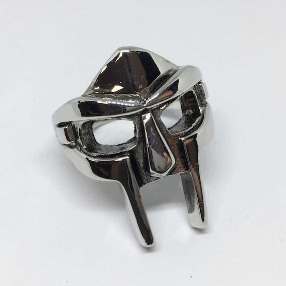 Anillo de m/áscara de gladiador Dise/ño de 2021 Anillo de m/áscara de Jason Anillo de metal retro anillo de m/áscara Mf Doom anillo de gladiador punk de acero inoxidable para hombres y mujeres