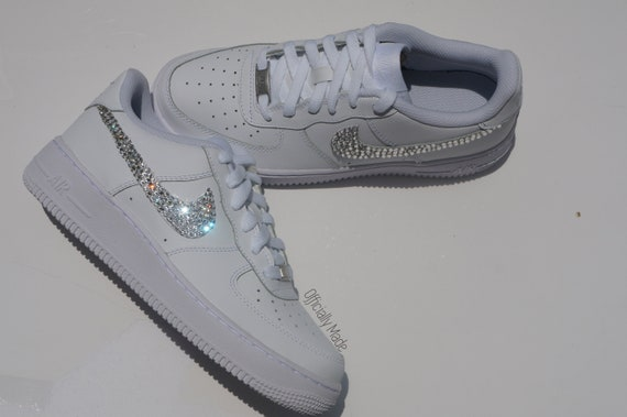 Swarovski Crystal Nike Air Force One Low Top Women S Etsy