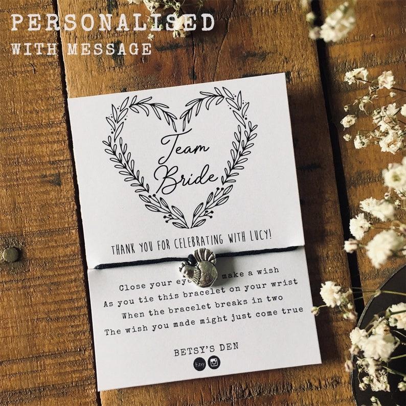 Wish Bracelet Birthday Hen Do Star Charm Gift Thank You Wedding Bride Tribe