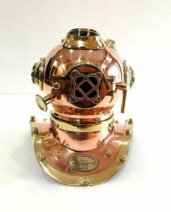 Vintage US Navy Mini Diving Divers Helmet Brass Copper Navy Mark V Gift Decor