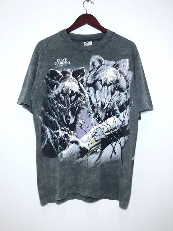 Vintage Wolf Animal Tee Double Sided-Free Shipping
