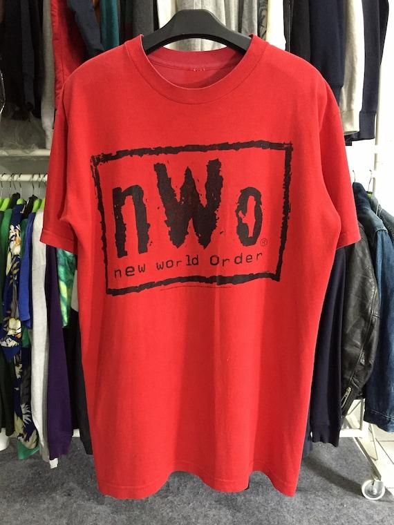 Vintage NWO New World Order Wrestling Tee-Free Shi