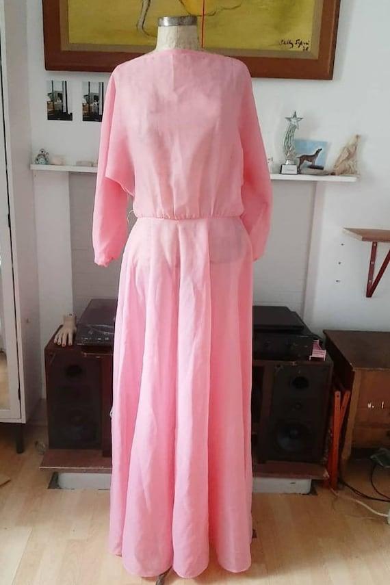 Peony Blush Pink Silk Gown