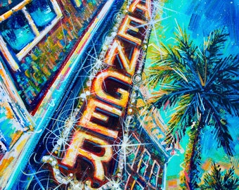 """Saenger Nights"""" X_Large 16x20 Print, Limited Edition of 100."""