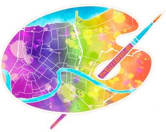 Paint the Town Rainbow- Sticker