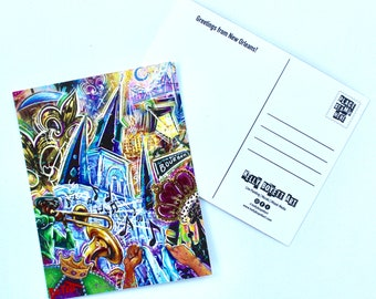 Mardi Gras Mashup Post Card