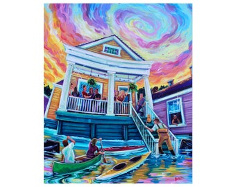 Hurricane Party, 8x10 Print, Limited Edition of 150
