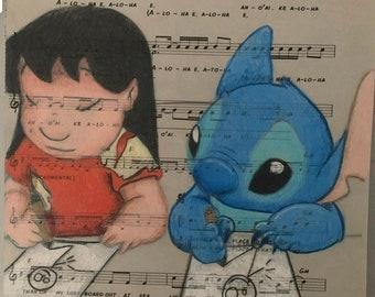 Lilo and stitch drawing a4