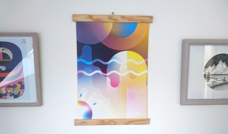 Poster A3 abstract and modern geometric and colorful shapes image 0