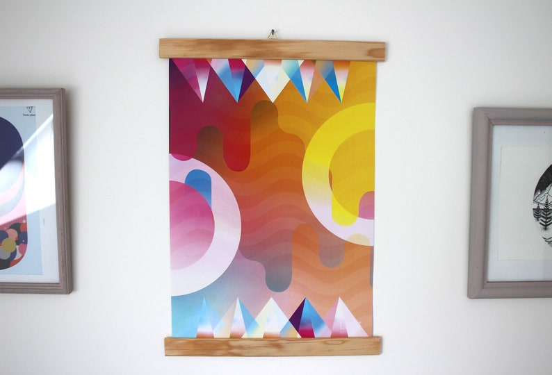 Modern abstract and colorful decorative A3 poster image 0