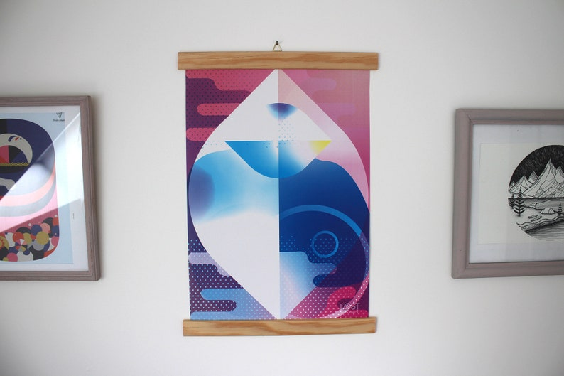 Modern and abstract A3 poster on the perfect ocean to decorate image 0