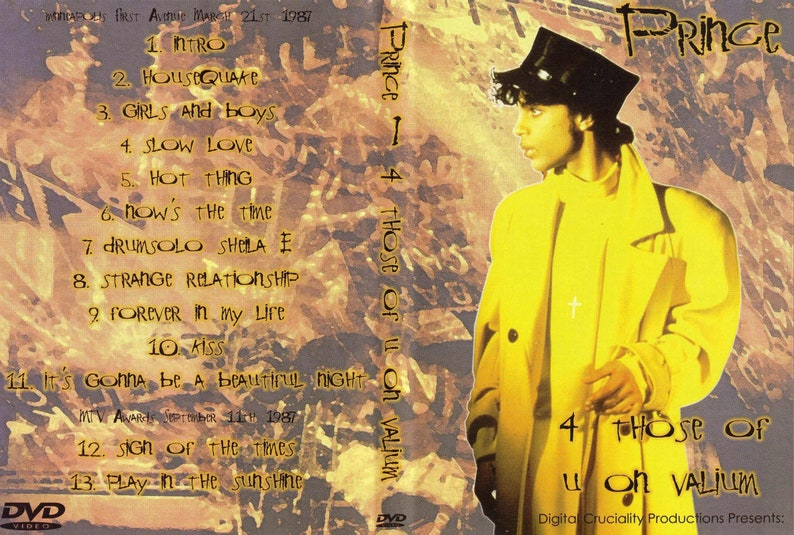 Prince First Avenue Live 1987 DVD