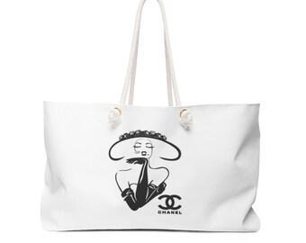 ef37361cc490 Chanel Inspired Weekender Bag
