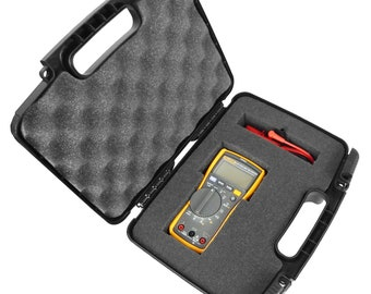 Digital Multimeter Carrying Case fits Fluke 115 , Fluke 117 , 87-V , 177 , 116 , 114 , 113 and More RMS MultiMeters , Leads and Accessories