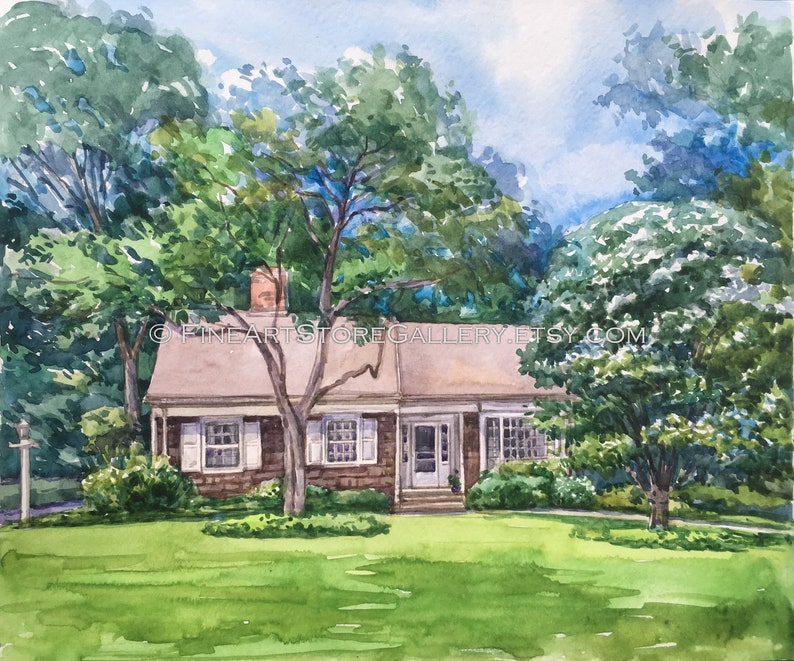 Watercolor House Portrait House Moving Gift House Painting from Photo Watercolor home painting Custom House Portrait Watercolor art