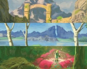 Legend of Zelda Breath of the Wild Landscape On Demand Prints