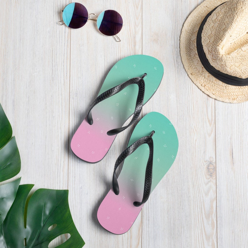 Summer shoes Beach Thongs Pastel Flip-Flops Sandals Summer Flip-Flops