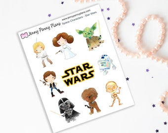 Space Characters - Star Wars stickers on premium matte