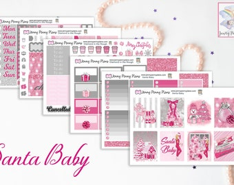 Santa Baby Kit Planner Stickers on Premium Matte