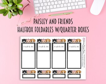 Paisley and Friends Halfbox Foldable Stickers, printed on Premium matte sticker paper