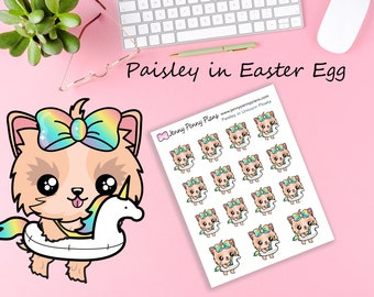 Paisley in Unicorn Floaty, Planner Stickers.