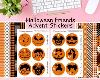 Halloween Favorites Advent Circles for magnet tins