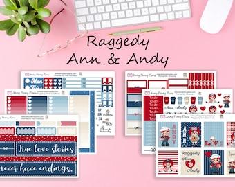 Raggedy Ann & Andy, Planner Stickers on Premium Matte
