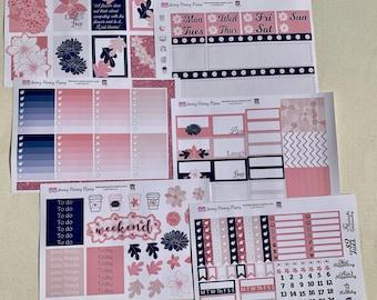 Just Bloom, floral planner sticker kit, on  premium matte