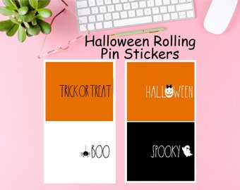 Halloween Rolling Pin Labels for Mini Rolling Pins