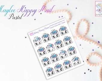 Haylee Happy Mail stickers on Premium matte - Hand drawn