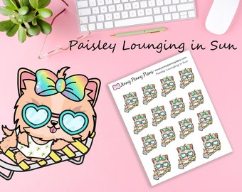 Paisley Lounging in chair, Planner Stickers.