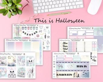 This is Halloween Planner Kit, Printed on Premium (Unicorn) Matte sticker Paper