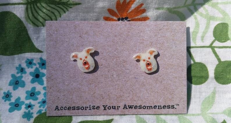 Scary Bunny Earrings image 0