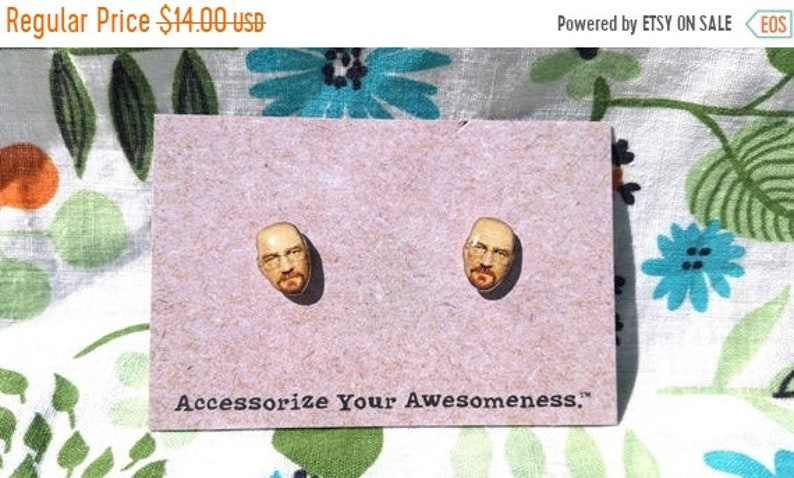30% OFF SALE Heisenberg Earrings image 0
