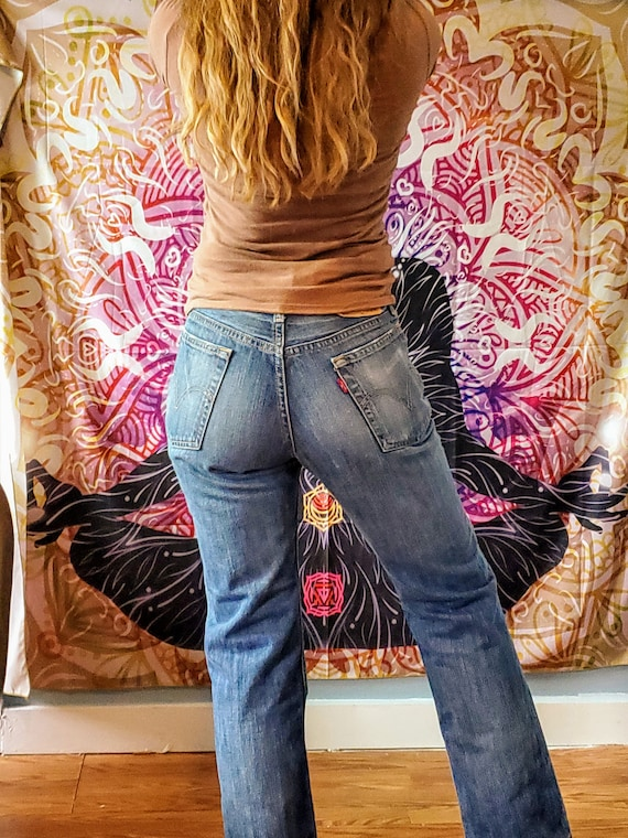 Vintage Levi's 517 Size 25/26  Faded and Distresse