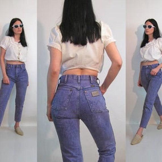 Lavender Wrangler jeans 26x26.5 / Vintage 80s  Lav