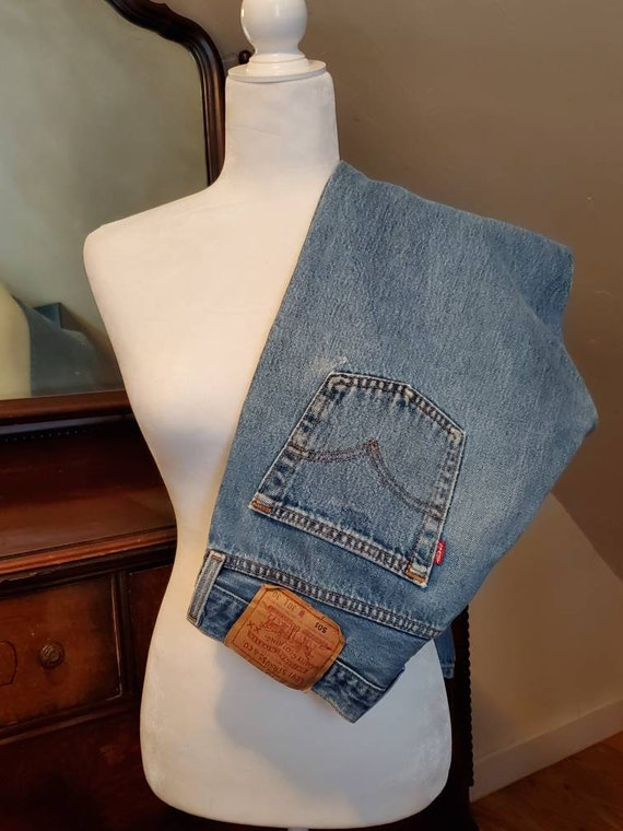 Vintage Levi's 501 Faded and Distressed Button Fl… - image 1