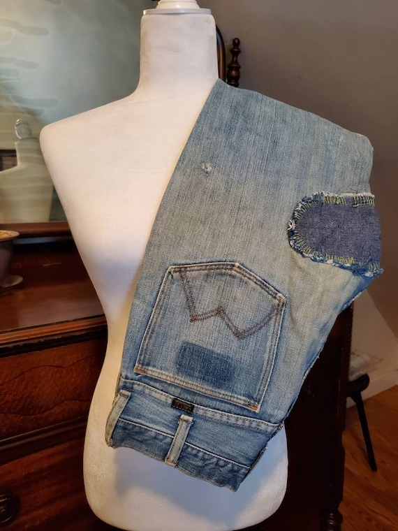 RARE 1970's Vintage Maverick Patched  Distressed F