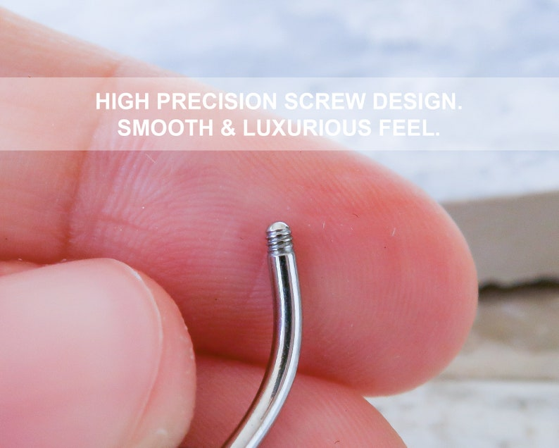 Navel Piercing 14G Surgical Steel Curved Barbell Screw Belly Button Rings Navel Ring Simple Belly Button Rings